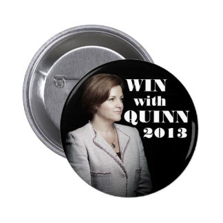 Christine Quinn para el alcalde Pin Redondo De 2 Pulgadas