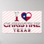 Christine, Texas Print