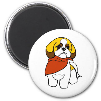 Christine's Pet Grooming Logo 2 Inch Round Magnet