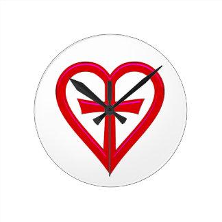 christliche Liebe christian love Round Clock