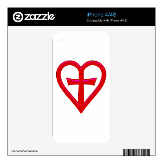 christliche Liebe christian love Skin For iPhone 4