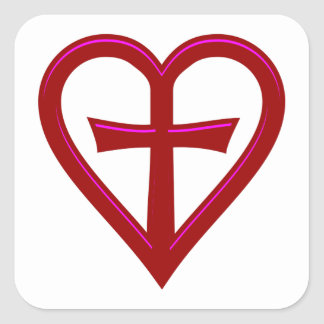 christliche Liebe christian love Square Sticker