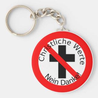 Christliche Werte — Nein Danke! Basic Round Button Keychain