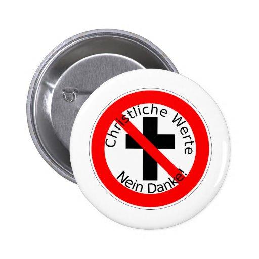 ¡Christliche Werte - Nein Danke! Pin Redondo De 2 Pulgadas