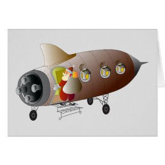 Christma card rocket ship
