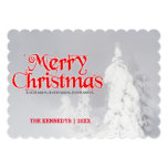 Christma -Yellowstone Frosted Lodgepole Pine trees Card