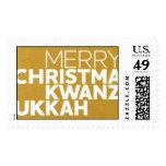 Christmakwanzukkah - 24 KT Stamp