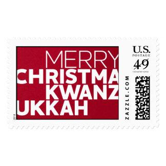 Christmakwanzukkah - Geisha Stamp