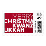 Christmakwanzukkah - Geisha Postage Stamp