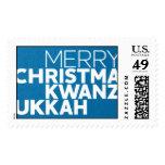 Christmakwanzukkah - Peacock Stamp