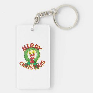 Christmas5.png Double-Sided Rectangular Acrylic Keychain