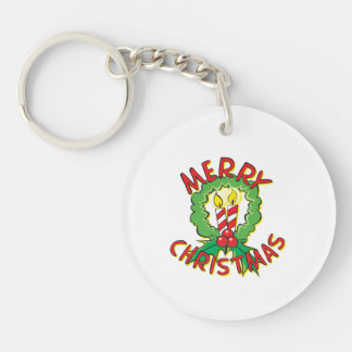 Christmas5.png Double-Sided Round Acrylic Keychain