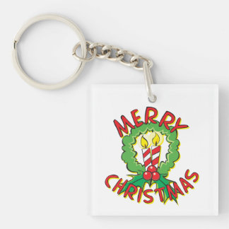 Christmas5.png Double-Sided Square Acrylic Keychain
