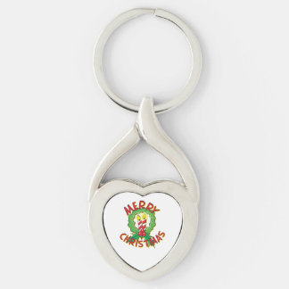 Christmas5.png Silver-Colored Heart-Shaped Metal Keychain