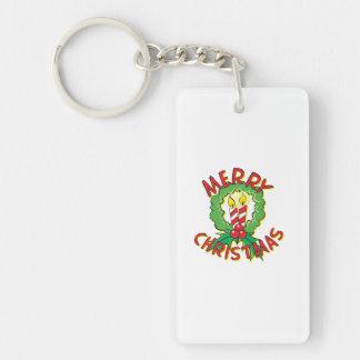 Christmas5.png Single-Sided Rectangular Acrylic Keychain