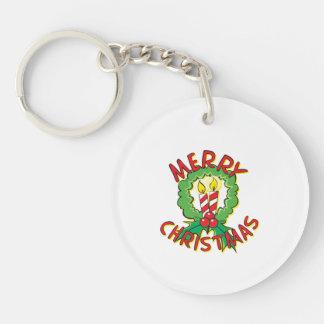 Christmas5.png Single-Sided Round Acrylic Keychain
