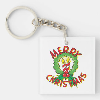 Christmas5.png Single-Sided Square Acrylic Keychain