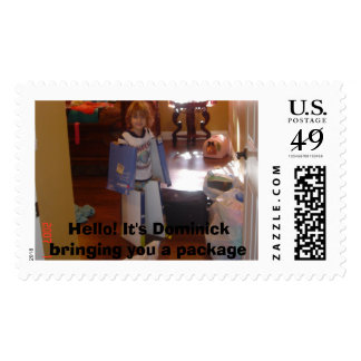 christmas 001, Hello! It's Dominick bringing yo... Postage Stamp