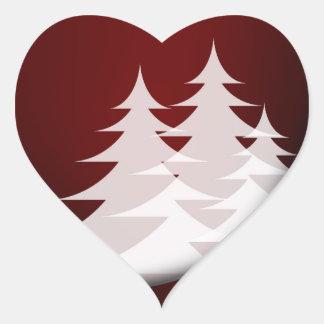 Christmas 014 heart sticker