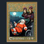 """Christmas, 1904, vintage illustration postcard<br><div class=""""desc"""">Christmas,  1904,  vintage Santa Claus illustration</div>"""