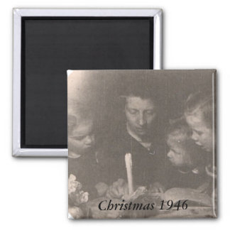 Christmas 1946 2 inch square magnet