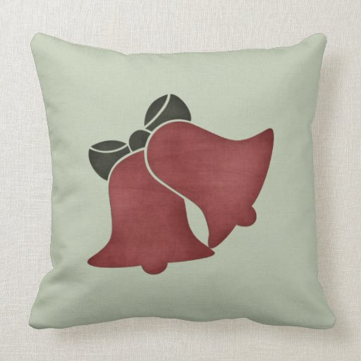 Christmas 1 : Holiday Bells Green Pillow