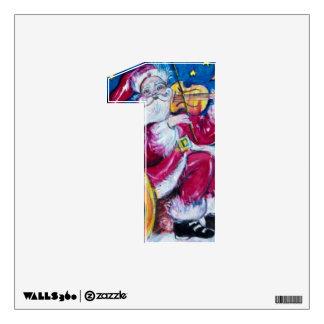 CHRISTMAS 1 NUMBER / INSPIRED SANTA WALL STICKER