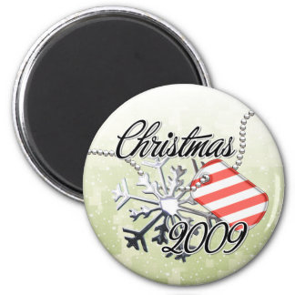 Christmas 2009 2 inch round magnet