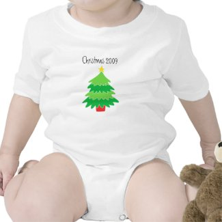 Baby or Child Christmas 2009 Tee Shirt
