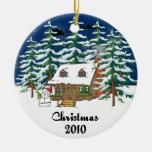 Christmas 2010 Log Cabin Christmas Tree Ornaments
