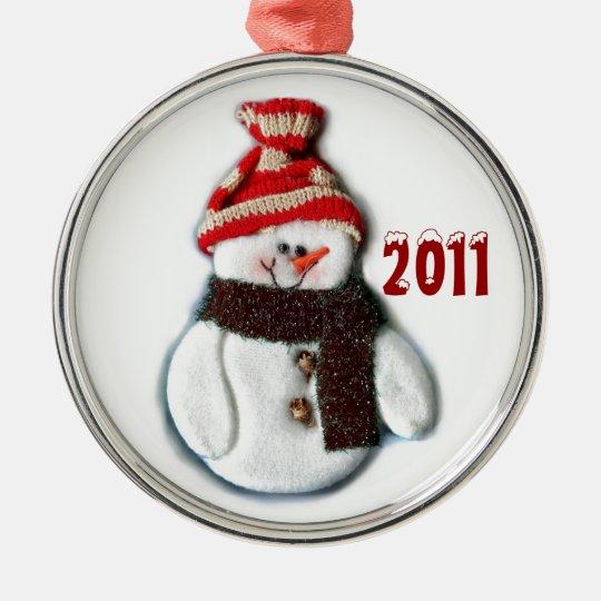 Christmas 2011 Cute Snowman Ornament