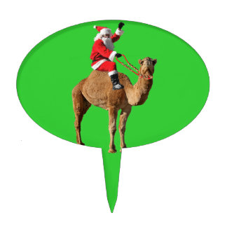 Christmas 2013 Hump Day Camel and Santa Cake Toppers