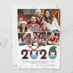 "Christmas 2020 Funny Festive Masks & Plaid 4 Photo Holiday Card<br><div class=""desc"">This flat holiday card is a brilliant way to send a funny photo card to your loved ones after such a tough year! This design features 4 custom family photos, with one large one and 3 smaller square ones in front. Under the photos is a white background with a subtle...</div>"