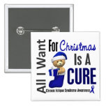 Christmas 2 CFS Chronic Fatigue Syndrome 2 Inch Square Button