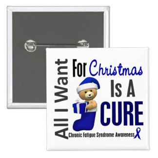Christmas 2 CFS Chronic Fatigue Syndrome Pinback Button