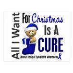 Christmas 2 CFS Chronic Fatigue Syndrome Postcard