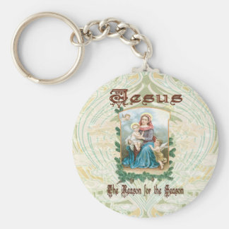 Christmas 2 - Jesus is the Reason for Season Basic Round Button Keychain