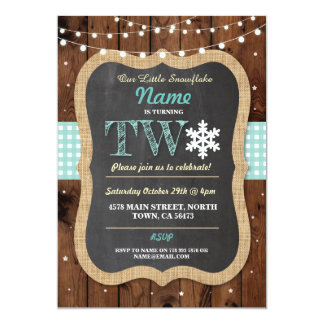 Christmas 2ND Birthday Party Winter Two 2 Invite