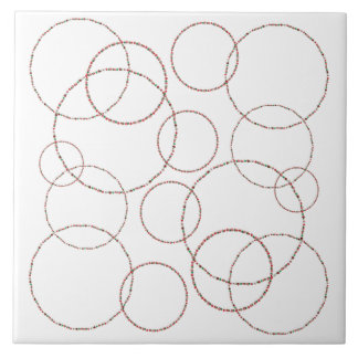 Christmas 3D Ornament Circles Ceramic Tile