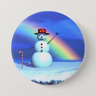 Christmas 3D Snowman Button