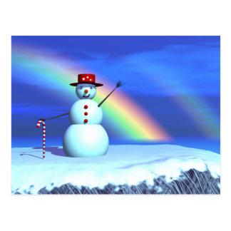 Christmas 3D Snowman Postcard