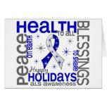 Christmas 4 ALS Snowflakes Greeting Card