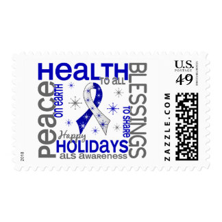 Christmas 4 ALS Snowflakes Stamps
