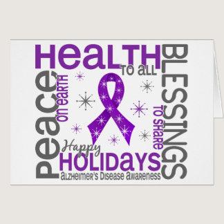 Christmas 4 Alzheimer's Disease Snowflakes Card