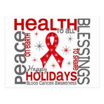 Christmas 4 Blood Cancer Snowflakes Postcard