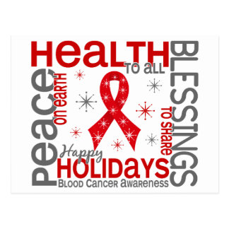 Christmas 4 Blood Cancer Snowflakes Postcards