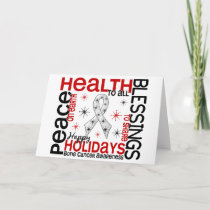 Christmas 4 Bone Cancer Snowflakes Holiday Card