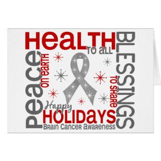 Christmas 4 Brain Cancer Snowflakes Card