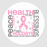 Christmas 4 Breast Cancer Snowflakes Stickers
