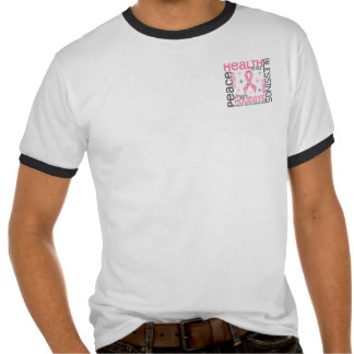 Christmas 4 Breast Cancer Snowflakes T-shirt